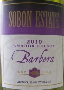 sobon estate barbera 2010