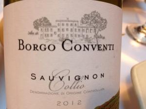 borgo conventi sauvignon blanc 2012