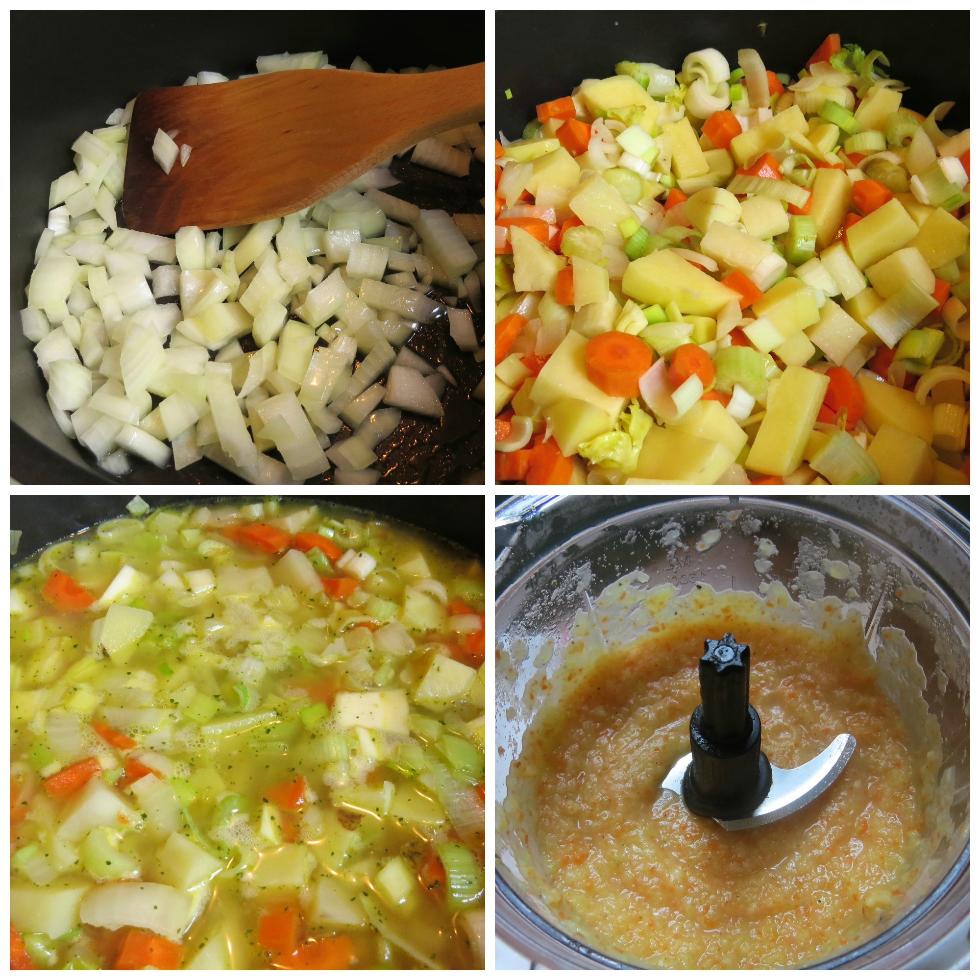 soup prep collage