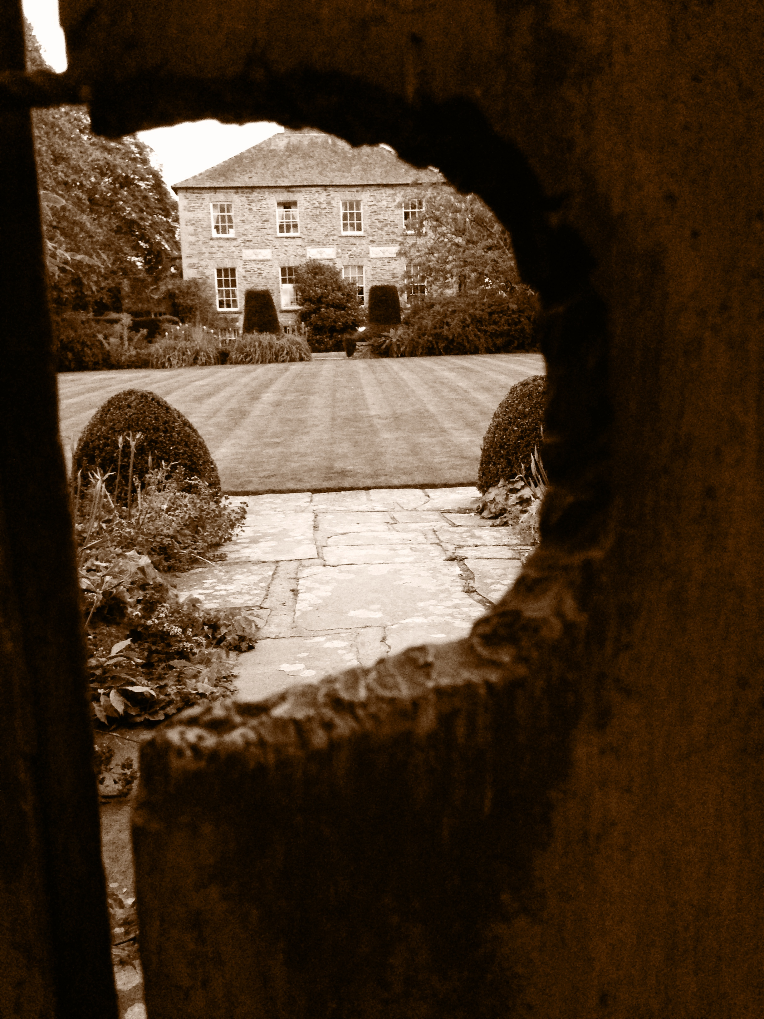 keyhole house sepia